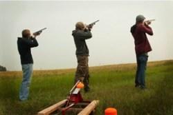 Laser Clay shooting team building activity