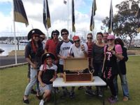 Sailing and treasure hunt team building activity
