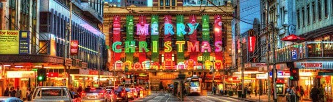 Merry Christmas in lights