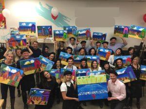 Canvas And Wine creative activities team bonding Sydney